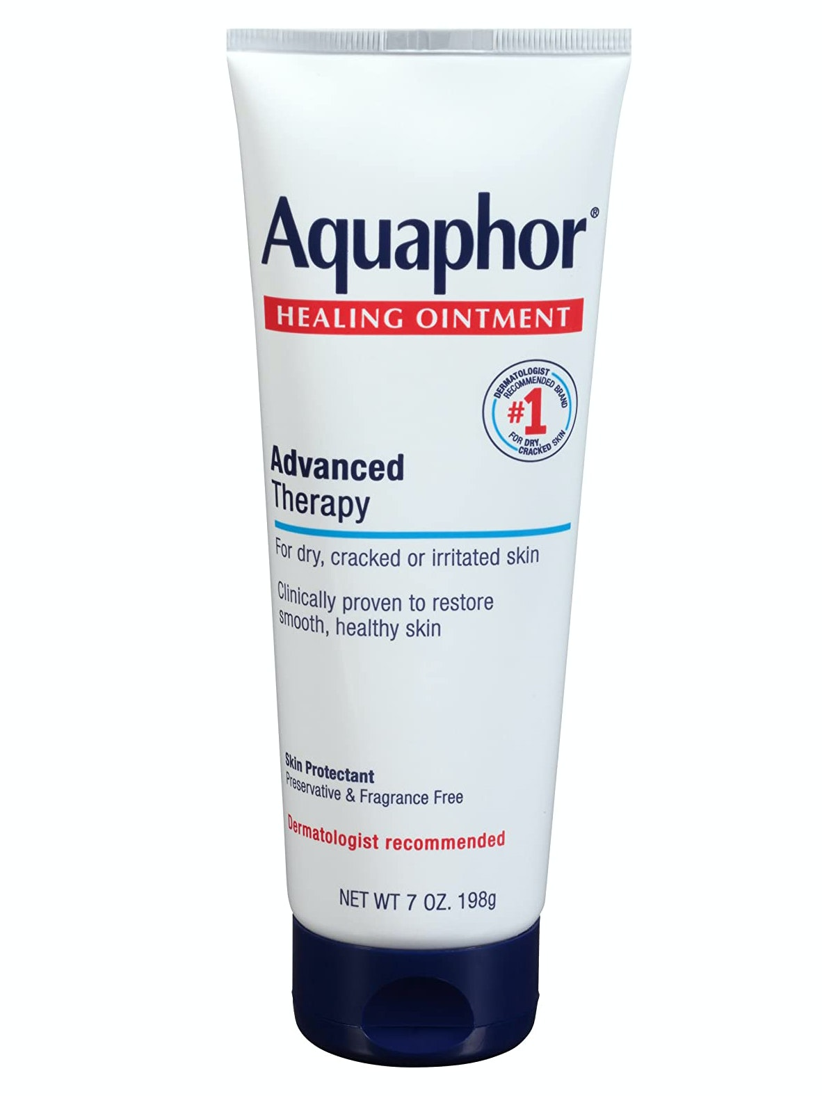 how to heal dry cracked hands use Aquaphor thicker hand creams