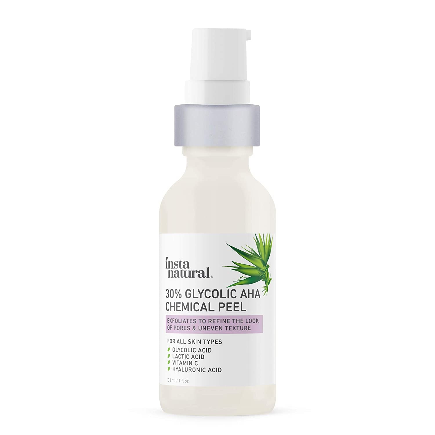 InstaNatural® 30% Glycolic AHA Chemical Peel