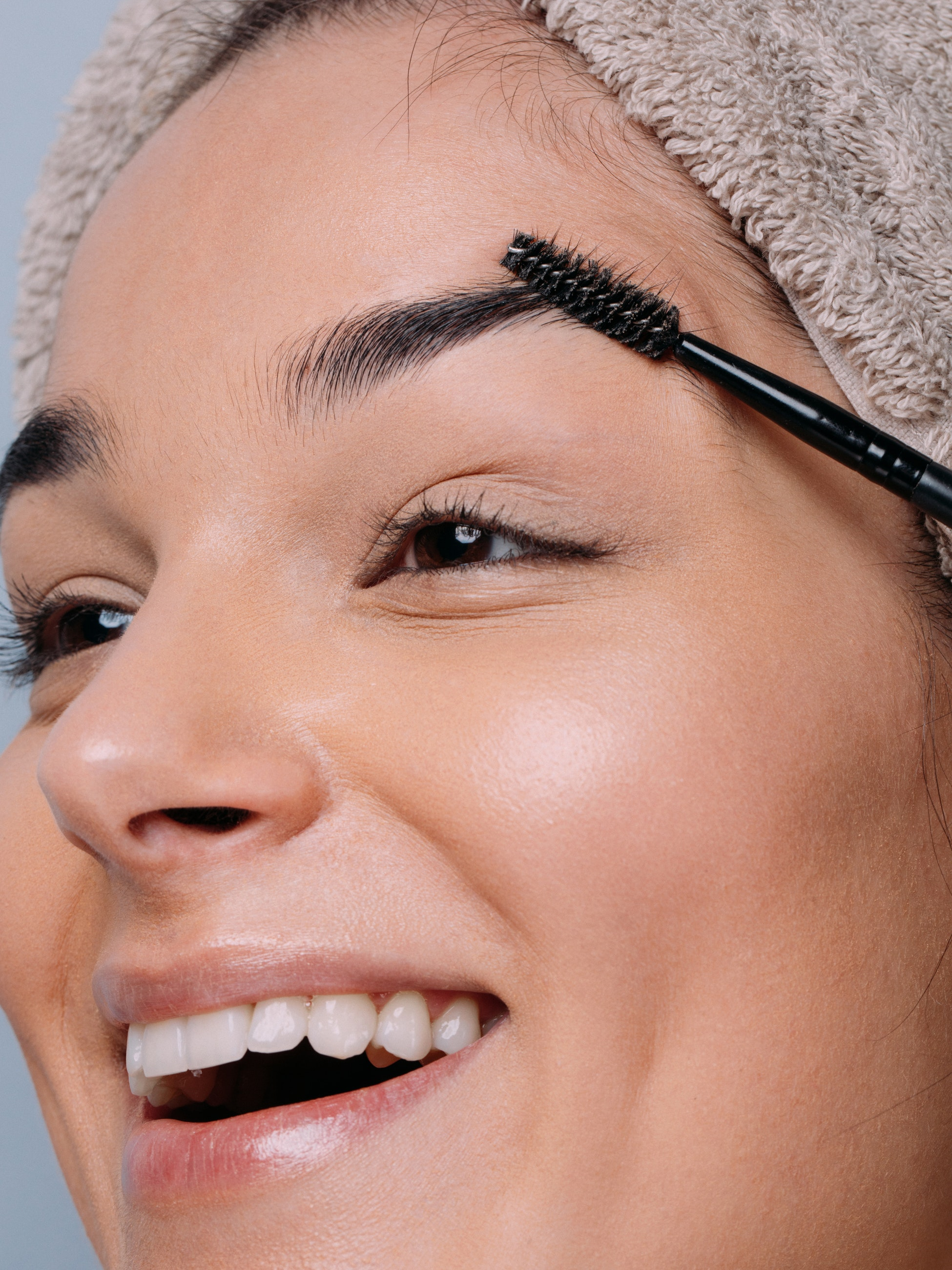 Zoom Video Conference Beauty Tip: Take a TV Makeup Approach women shaping eyebrows
