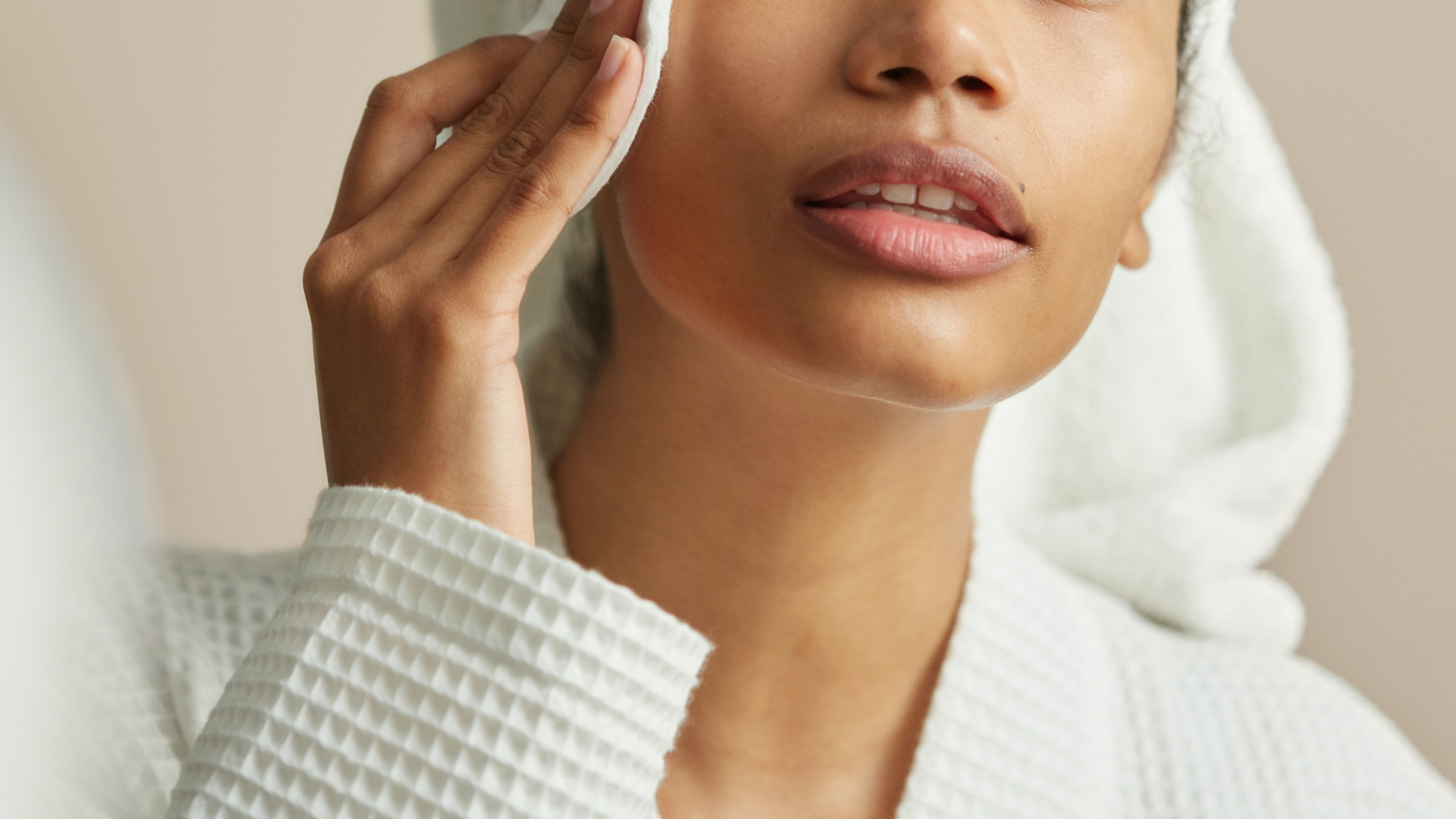 woman applying Toner and Essence in face care skincare