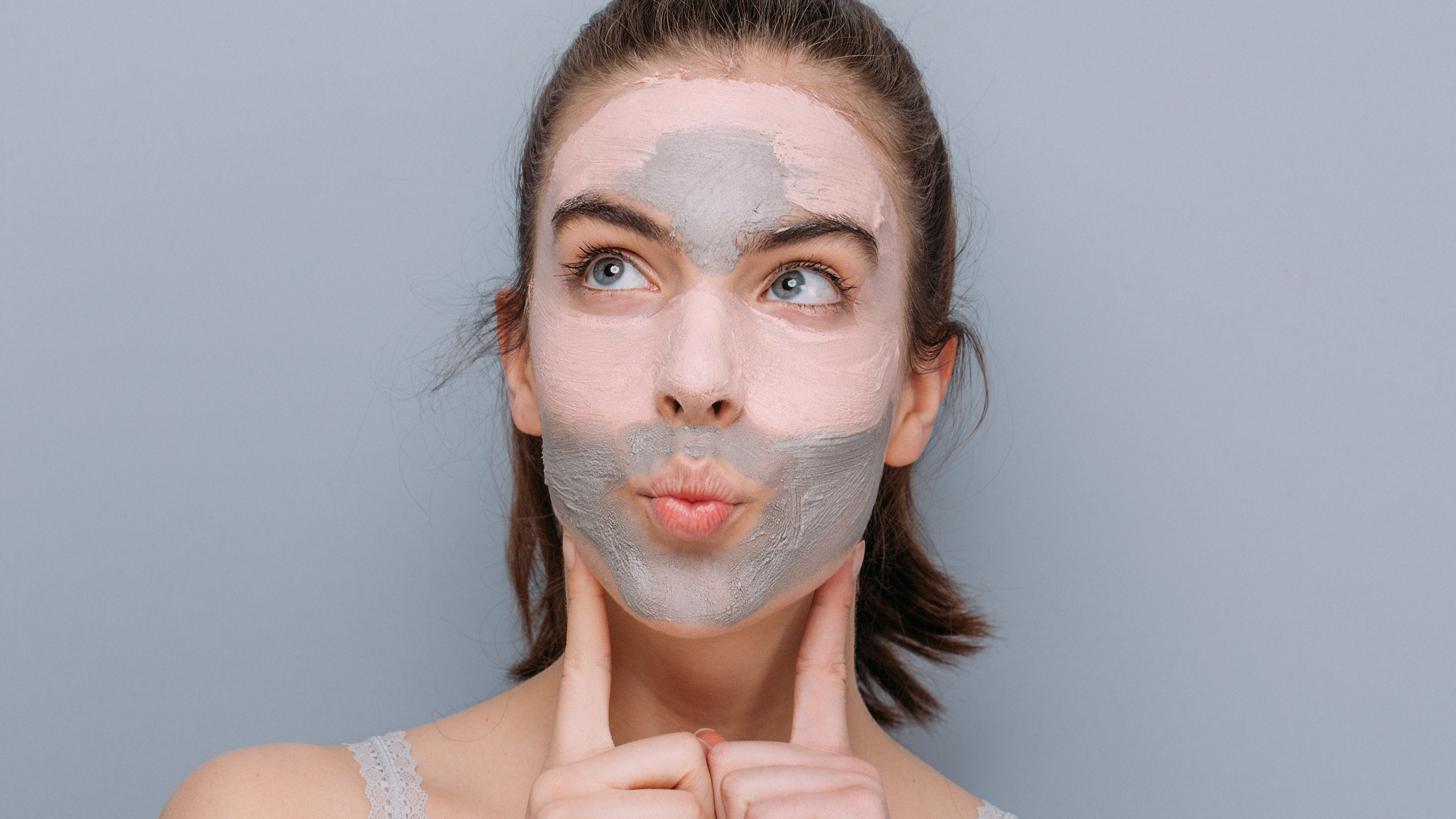 face mask on woman's face