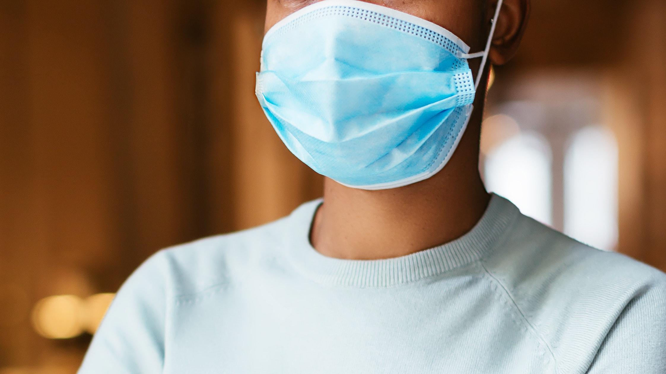 woman wearing face mask during coronavirus pandemic