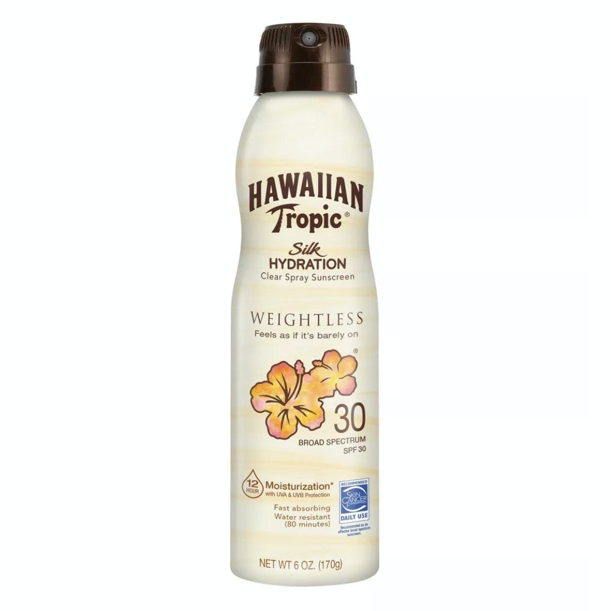 Hawaiian Tropic® Silk Hydration® Weightless Clear Spray Sunscreen Broad Spectrum SPF 30