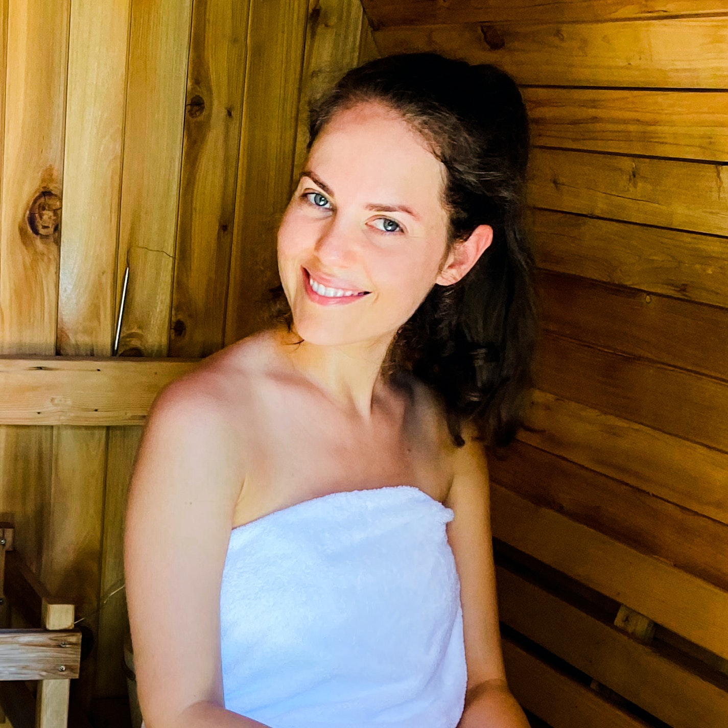 I Sat In a 160-Degree Barrel Sauna to See If It Helped My Skin