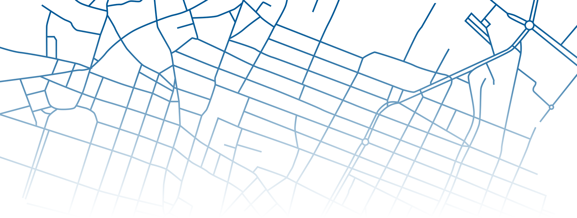Map pattern of a urban area