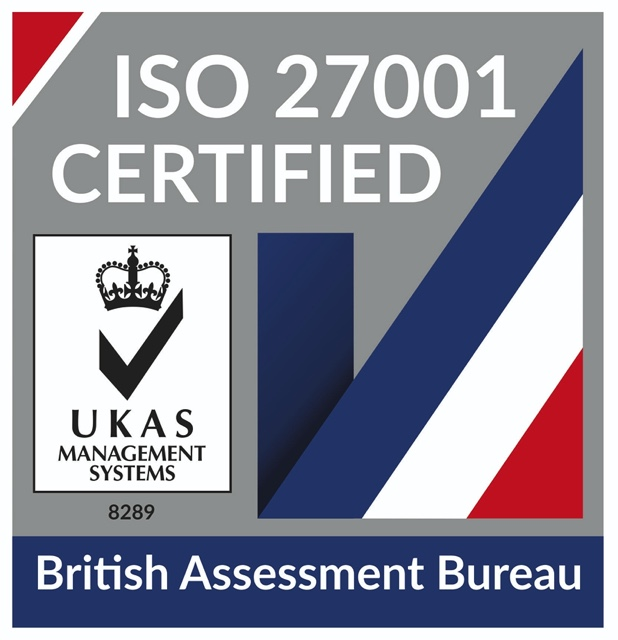 ISO 27001 Certified - British Assessment Bureau