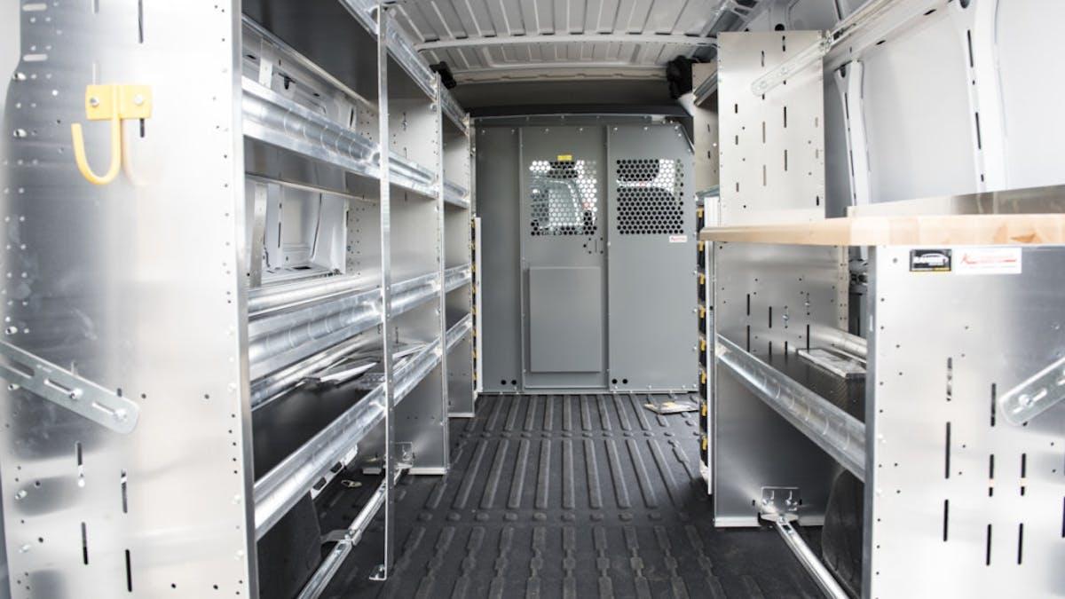 Work Van Shelving And Storage Mike Albert Upfitting