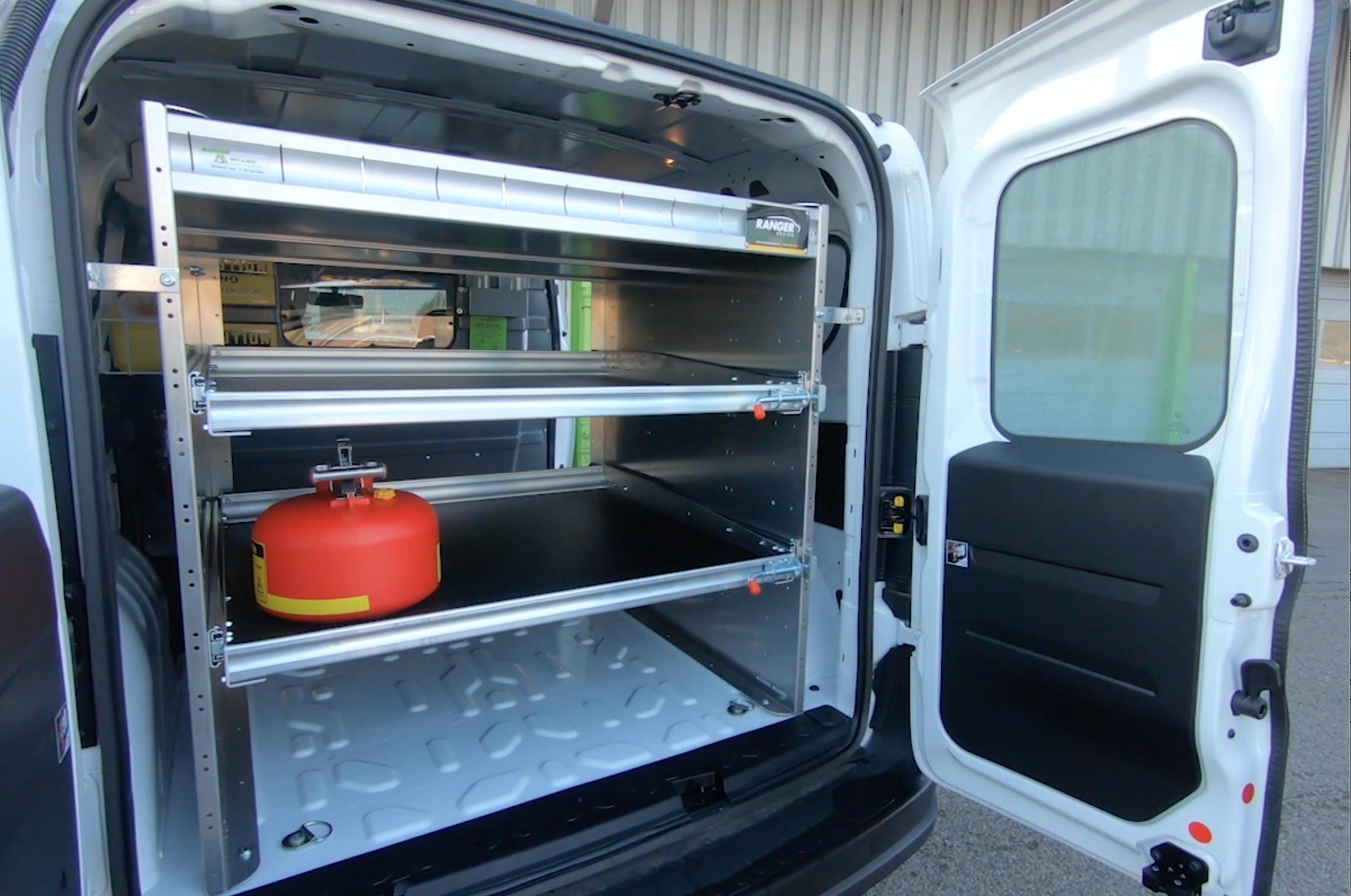 Small Cargo Van - Van Shelving