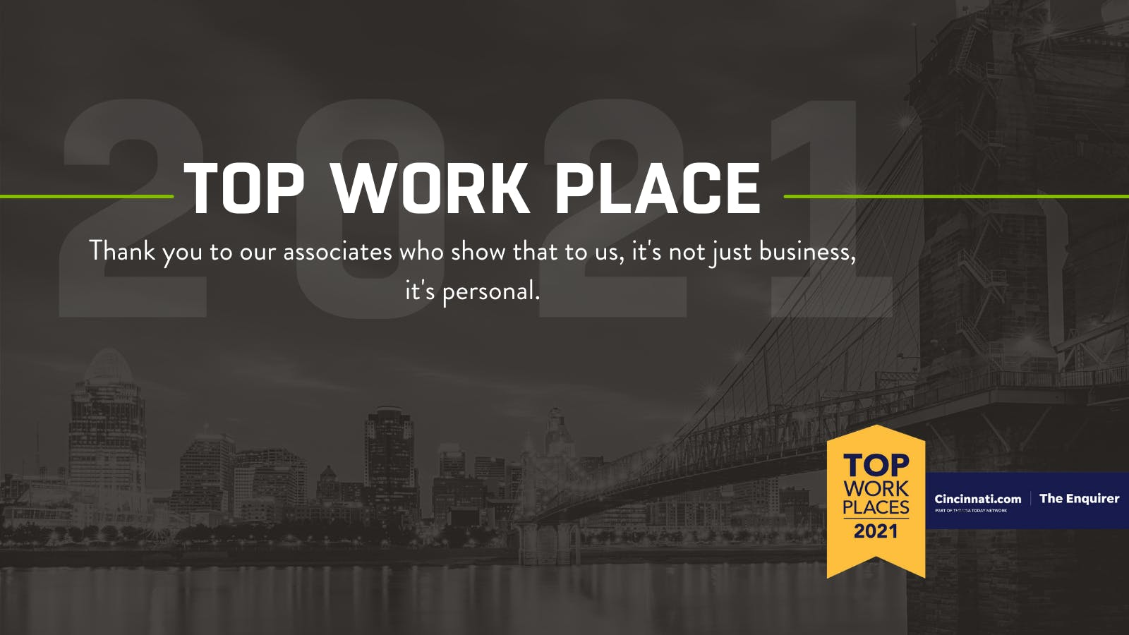 Mike Albert named a Top Work Place for 2021