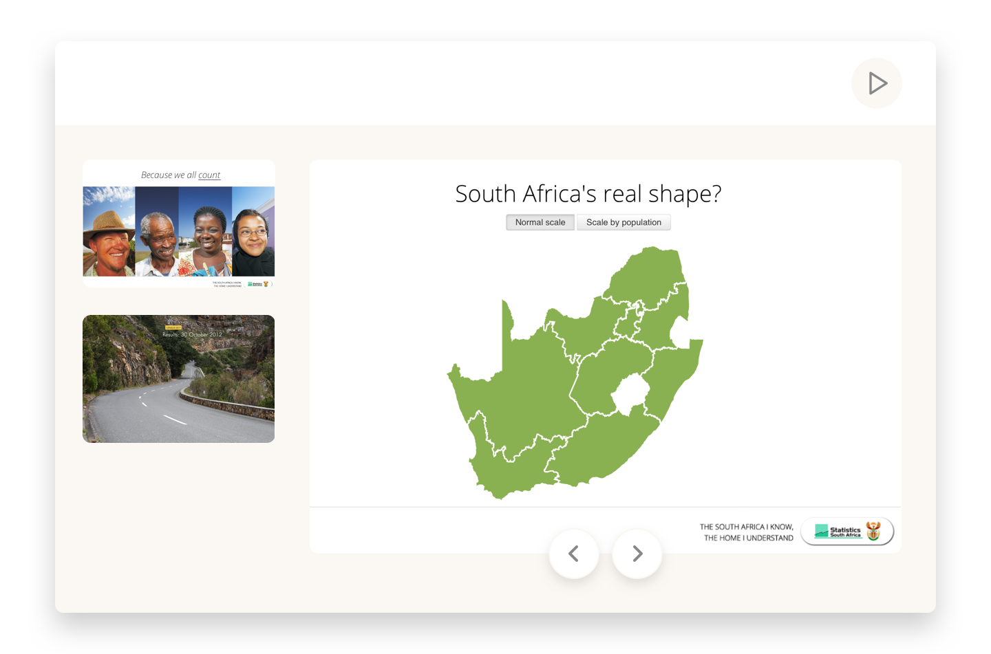 Visualizing the South African census