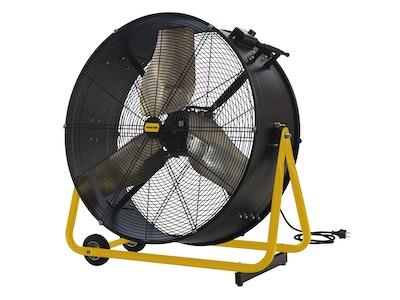 Rispetto ai ventilatori comuni, i ventilatori professionali assicurano prestazioni elevate anche in situazioni con poco ricambio d'aria come cantine, cantieri e lavori edili