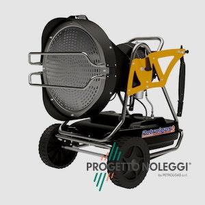 Master XL 91 riscalda per irraggiamento senza nessun spostamento d'aria con alta silenziosità e può essere utilizzato in ambienti aperti o chiusi con adeguata ventilazione.