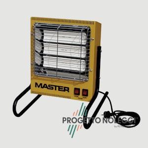 Il riscaldatore elettrico a infrarossi Master TS 3A garantisce un calore pulito e sicuro riscaldando singoli ambienti come uffici, abitazioni e negozi.