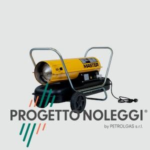Il Master B 100 è un generatore d'aria calda a gasolio per piccoli e medi ambienti ben ventilati, facile da trasportare grazie al carrello con ruote integrato e di semplice manutenzione.