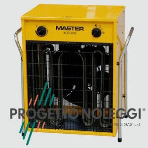 Master B 22 è un generatore d'aria calda elettrico piccolo e compatto dai tanti usi, grazie alla sua mobilità e semplicità d'uso.