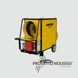 Master BF 310 FS è un generatore d'aria calda a Gasolio con bruciatore Riello separato. L'aria in uscita dalla bocca del generatore è completamente pulita, priva di odori o fumi.