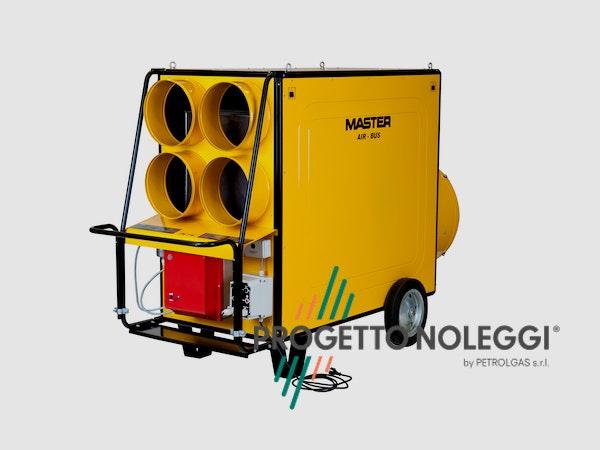 Il Master BV 470 è un generatore d'aria a Gasolio con bruciatore Riello separato. Il Generatore è canalizzabile per creare cicli chiusi di riscaldamento nella vostra struttura, migliorando notevolmente il rendimento del generatore ed i consumi di gasolio.