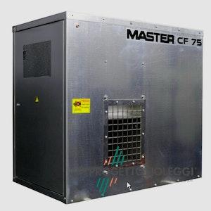 Master CF 75 SPARK è un generatore d'aria calda a Gpldi facile installazione che può essere posizionato a pavimento o appeso, ideale per grandi superfici.