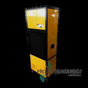 Master DH 7160 ha la possibilità di lavorare grandi portate d'aria per una veloce ed efficace deumidificazione e con lo scarico continuo di acqua di condensa.