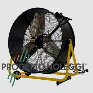 Master DF 30 è un ventilatore professionale a elevato flusso d'aria, facile da utilizzare e trasportare.