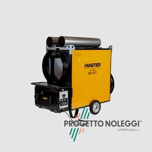Master BV 471 FS è un generatore d'aria calda con bruciatore di ottima qualità e bassi consumi di gasolio
