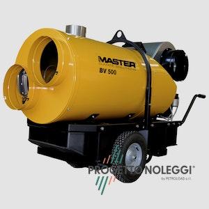 Master BV 500 CR è il generatore d'aria calda a Gasolio più flessibile adattabile ed efficiente sul mercato, unico dotato di sensori di pressione e temperatura.