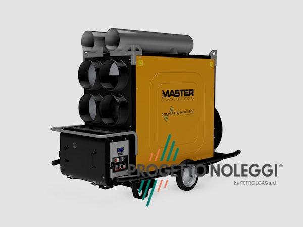 Il Generatori d'aria calda a Gasolio Master BV 691 con bruciatore Riello separato. Il Generatore è canalizzabile per creare cicli chiusi di riscaldamento nella vostra struttura, migliorando notevolmente il rendimento del generatore ed i consumi di gasolio.
