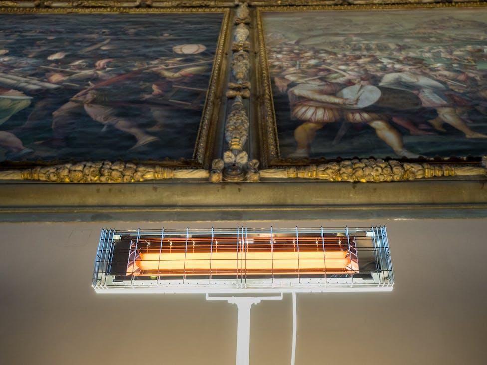 Riscaldamento Salone dei 500 in Palazzo Vecchio a Firenze