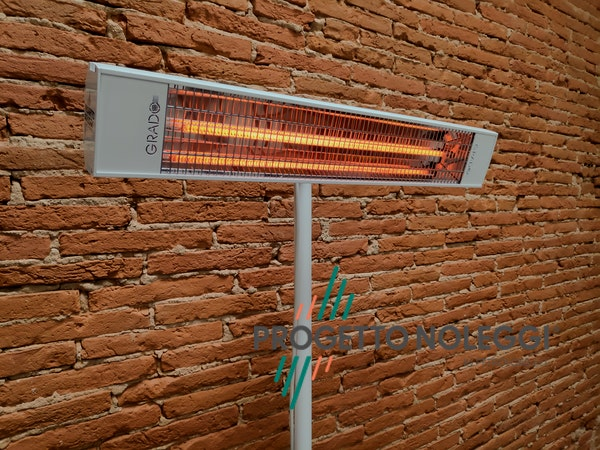 Grado Sol 1800 XL è una lampada a infrarossi a onda media che garantisce calore pulito e sicuro per singoli ambienti