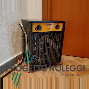 Solo progetto Noleggi offre il generatore d'aria calda elettrico Master B9 Black Edition , di colore nero opaco