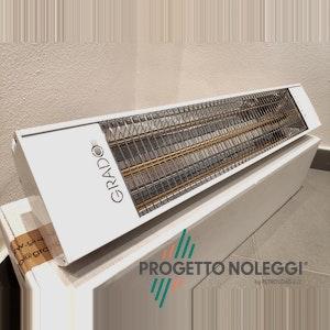 Grado Sol 1500 è riscaldatore speciale a raggi infrarossi con lampada ad onda corta XL di lunghezza maggiorata rispetto lo standard, emette onde infrarosse direzionali evitando la dispersione di calore