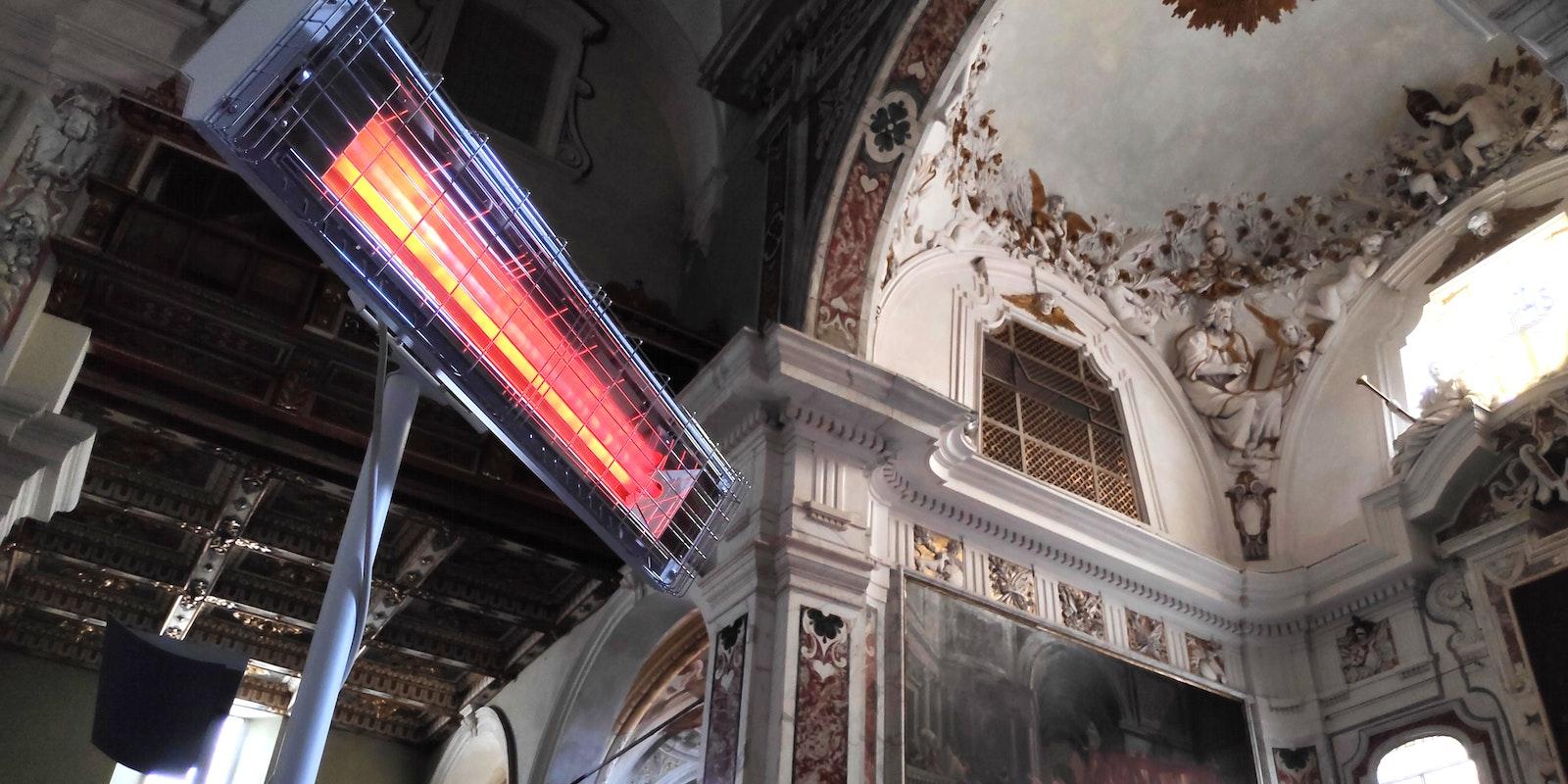 Riscaldatore ad Infrarosso basilica OMV 2250 Progetto Noleggi