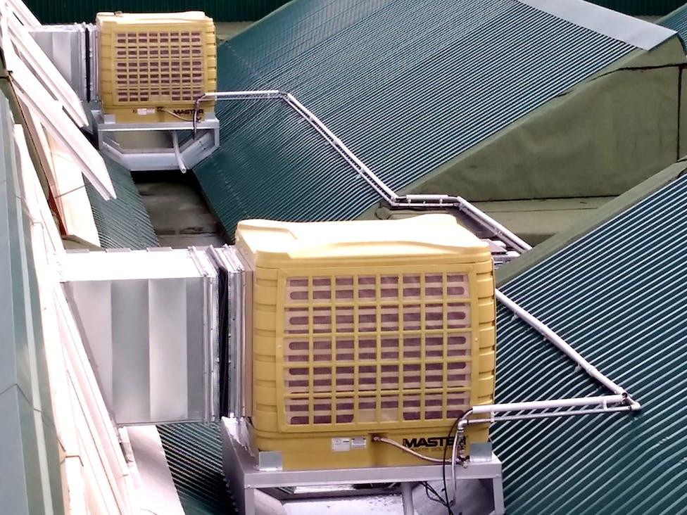 Raffrescamento Evaporativo / Adiabatico: La soluzione Ecologica ed Economica per aziende, fabbriche e capannoni