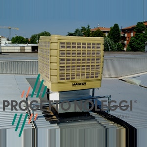 Il Raffrescatore evaporativo fisso contribuisce al risparmio energetico e al rispetto per l'ambiente controllando il clima in locali di medie e grandi dimensioni, anche con porte e finestre aperte, creando un ambiente confortevole con la combinazione ottimale di temperatura e umidità.