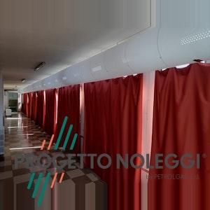 Installazione diffusori forati in tessuto per la distribuzione dell'aria calda e fredda in ambiente