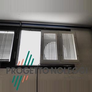 Diffusore a griglia orientabile applicazione industriale