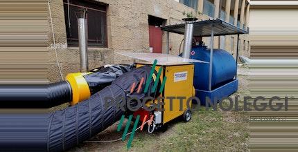 Installazione di Emergenza: Generatori di aria calda all'Ospedale Temporaneo dei Fraticini