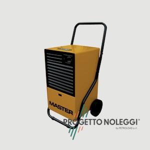 Master DH 26 è un deumidificatore a condensazione con scarico continuo, grazie alla pompa dell'acqua. Progetto Noleggi noleggia, trasporta e installa il Master DH 26 in tutta Italia