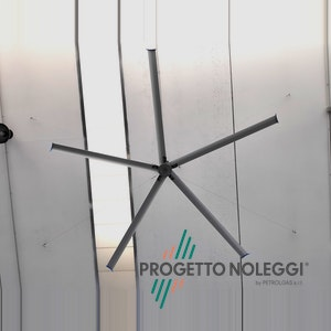 Destratificatore da soffitto - Tecnologia HVLS - High Volume Low Speed