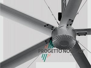 Motore Ventilatore da soffitto industriale tecnologia HVLS