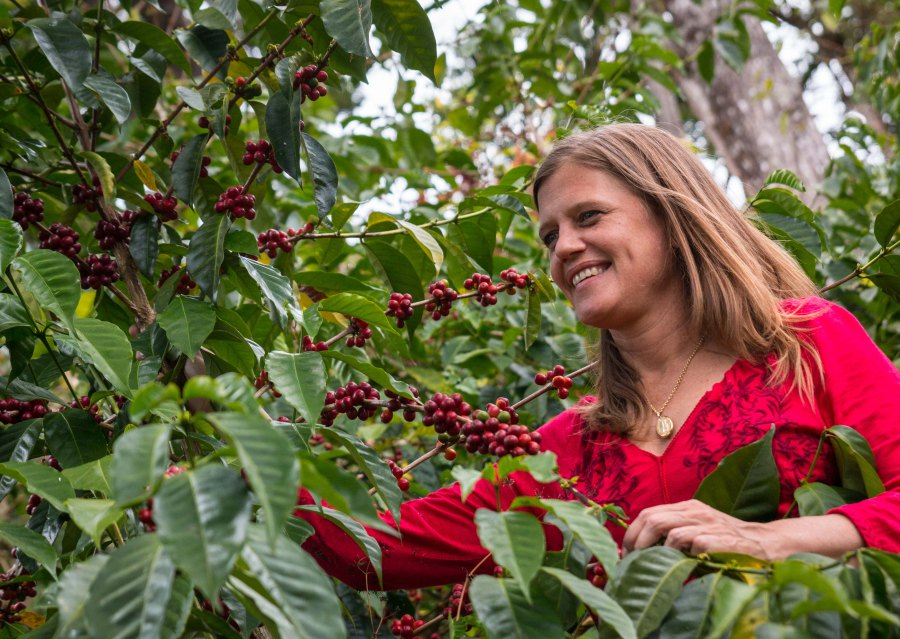 Rachel Peterson at Hacienda La Esmeralda. Image from Chasing the Vine