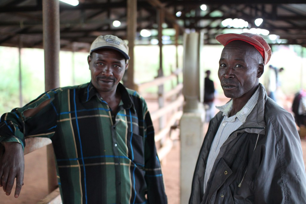 Two farmers at Kieni.