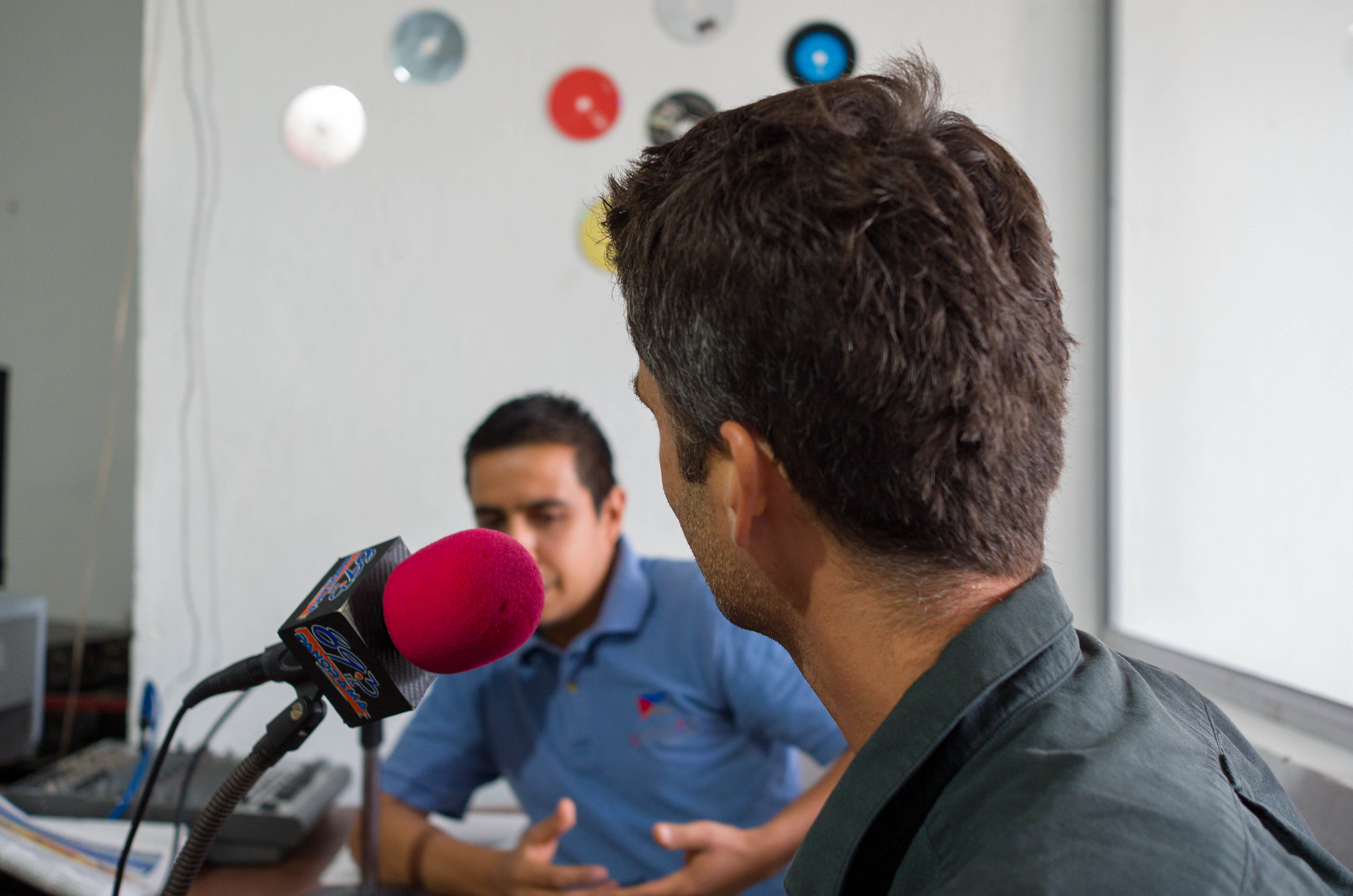 Peter was interviewed for the local Radio station.