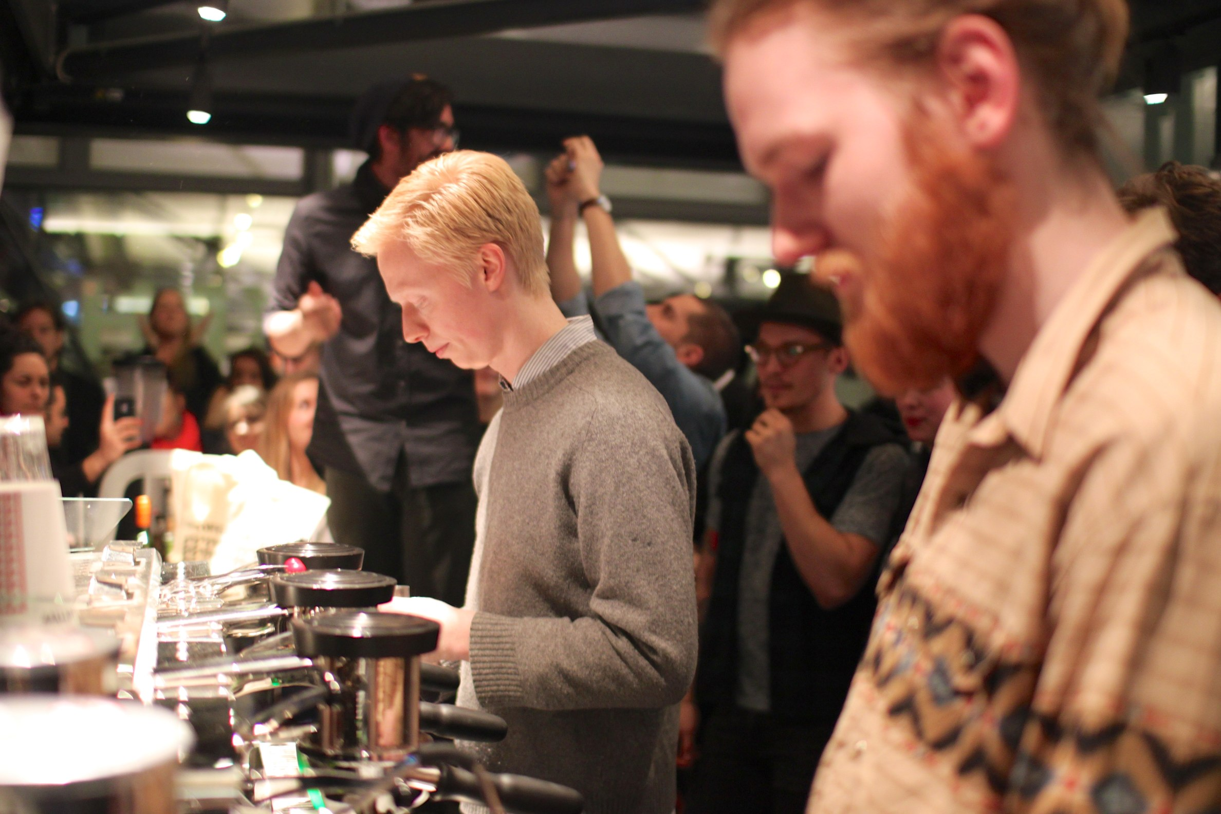 Pictures from the Latte Art Throwdown