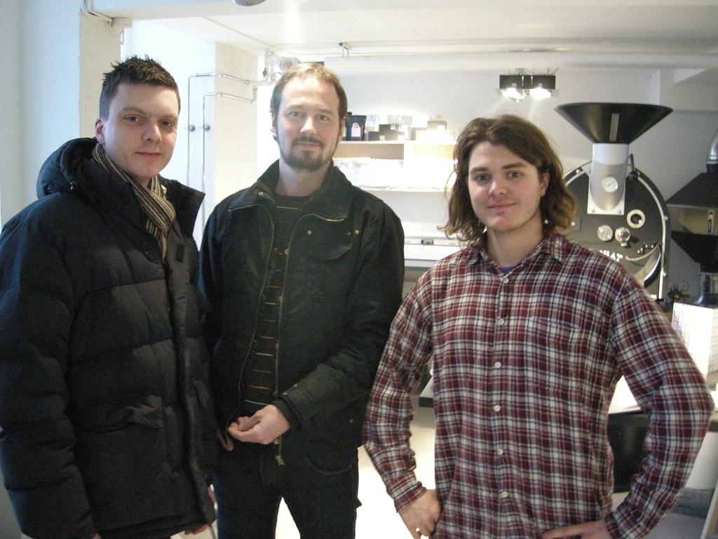 Tim Wendelboe (left) Morten Wennersgaard (middle) and Casper (right)