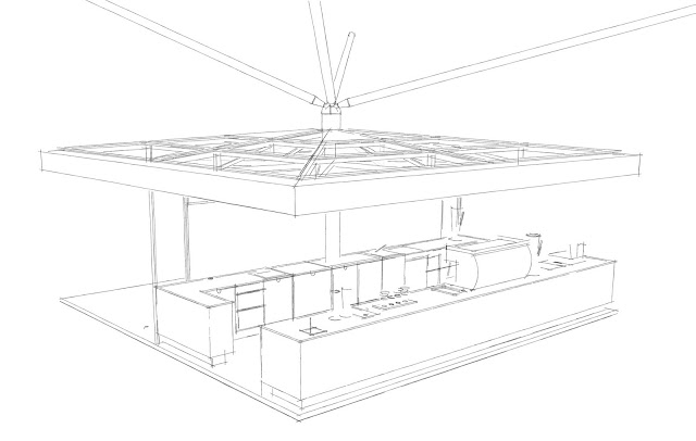 Sketch of the bar.