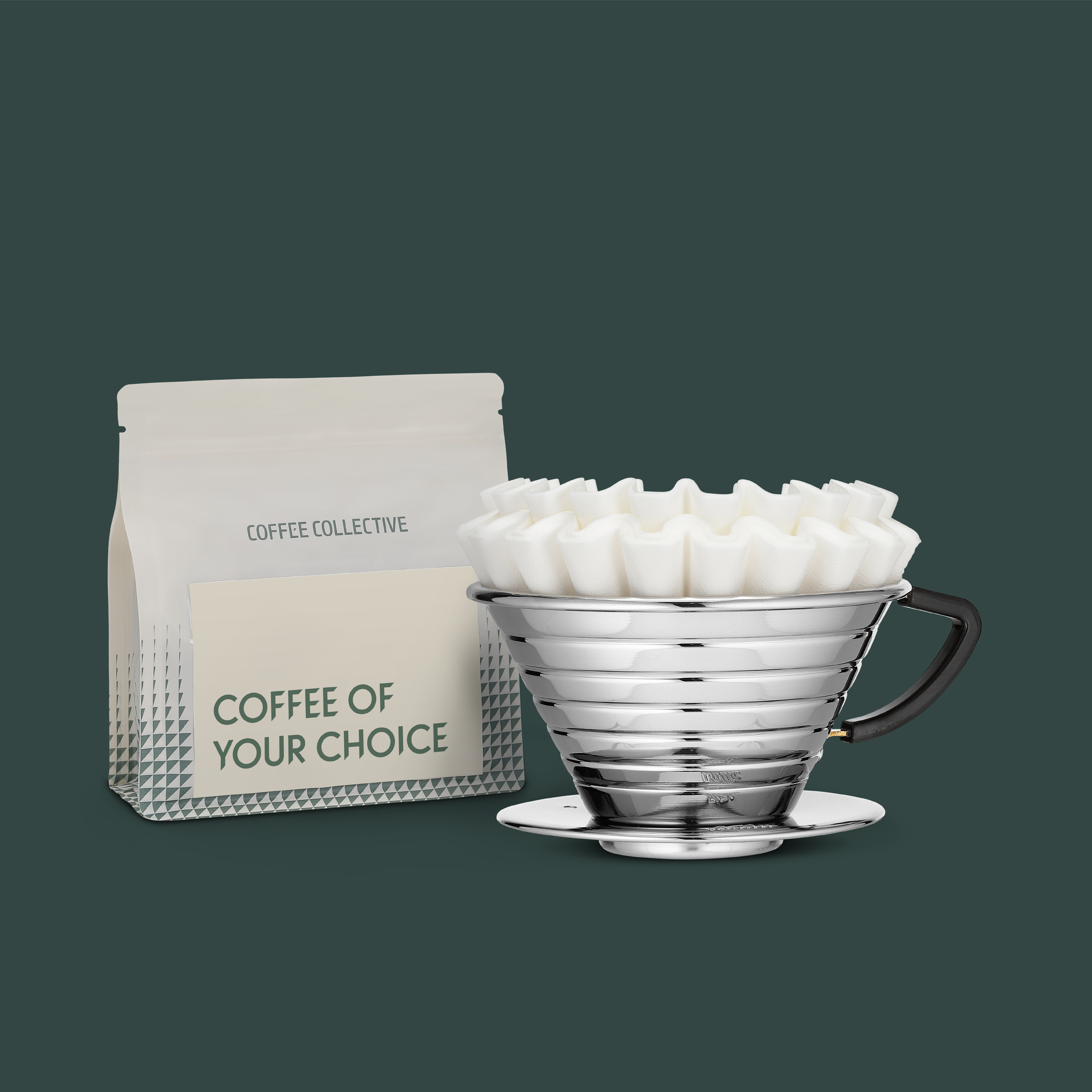Remember a bag of optional beans for the ultimate coffee dripper