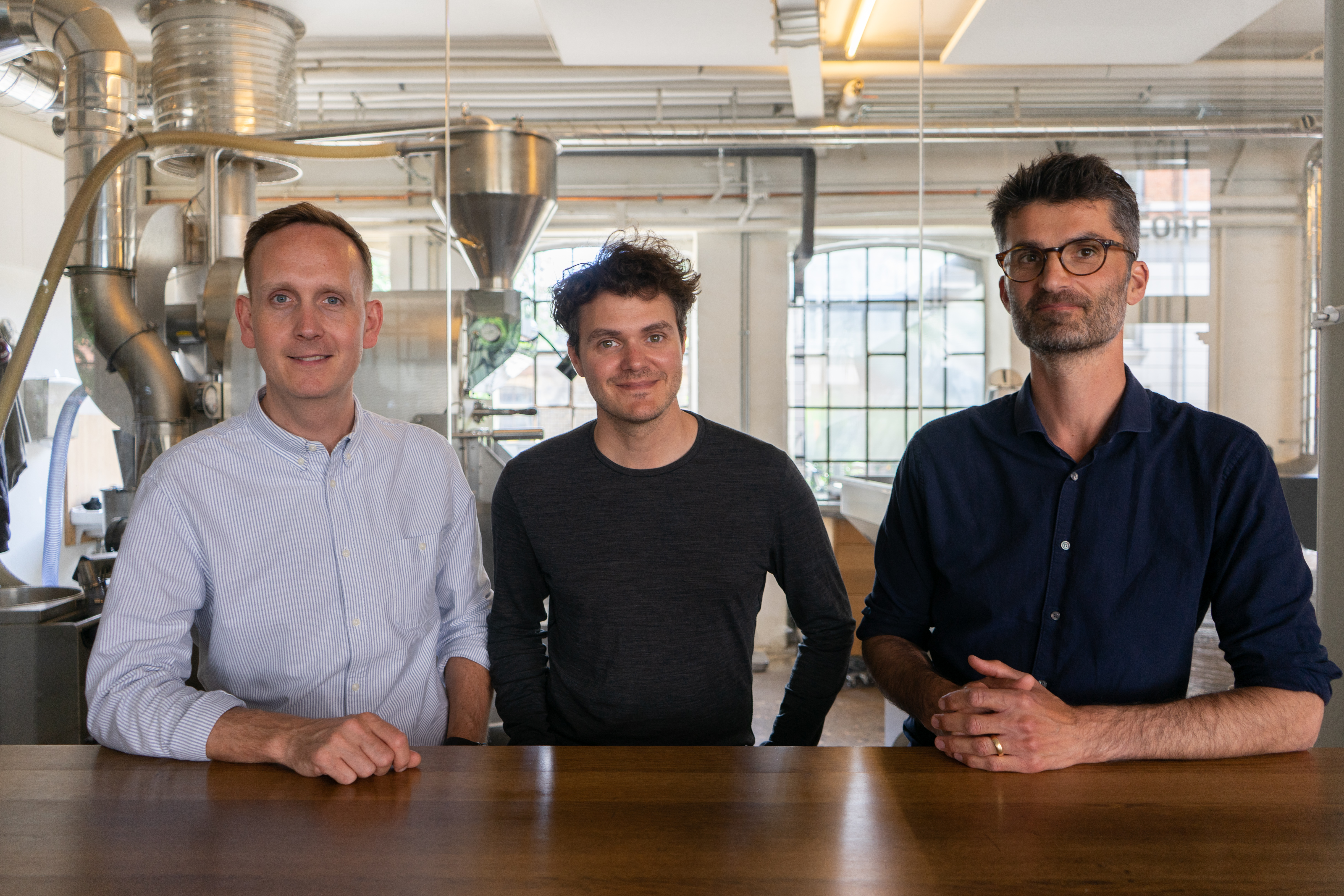 Founders of Coffee Collective (from left: Klaus Thomsen, Casper Rasmussen and Peter N. Dupont)