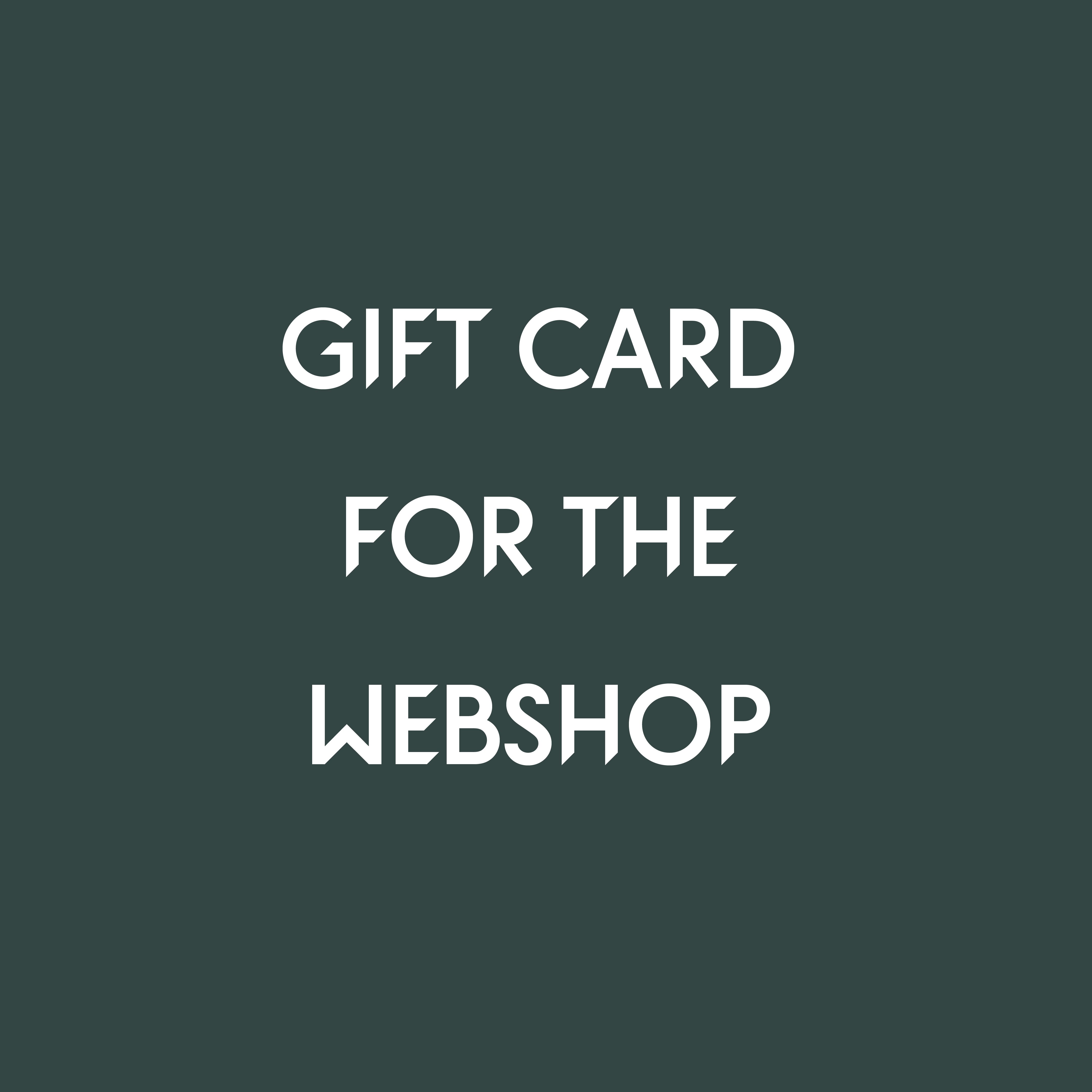 A gift card for all items on our webshop