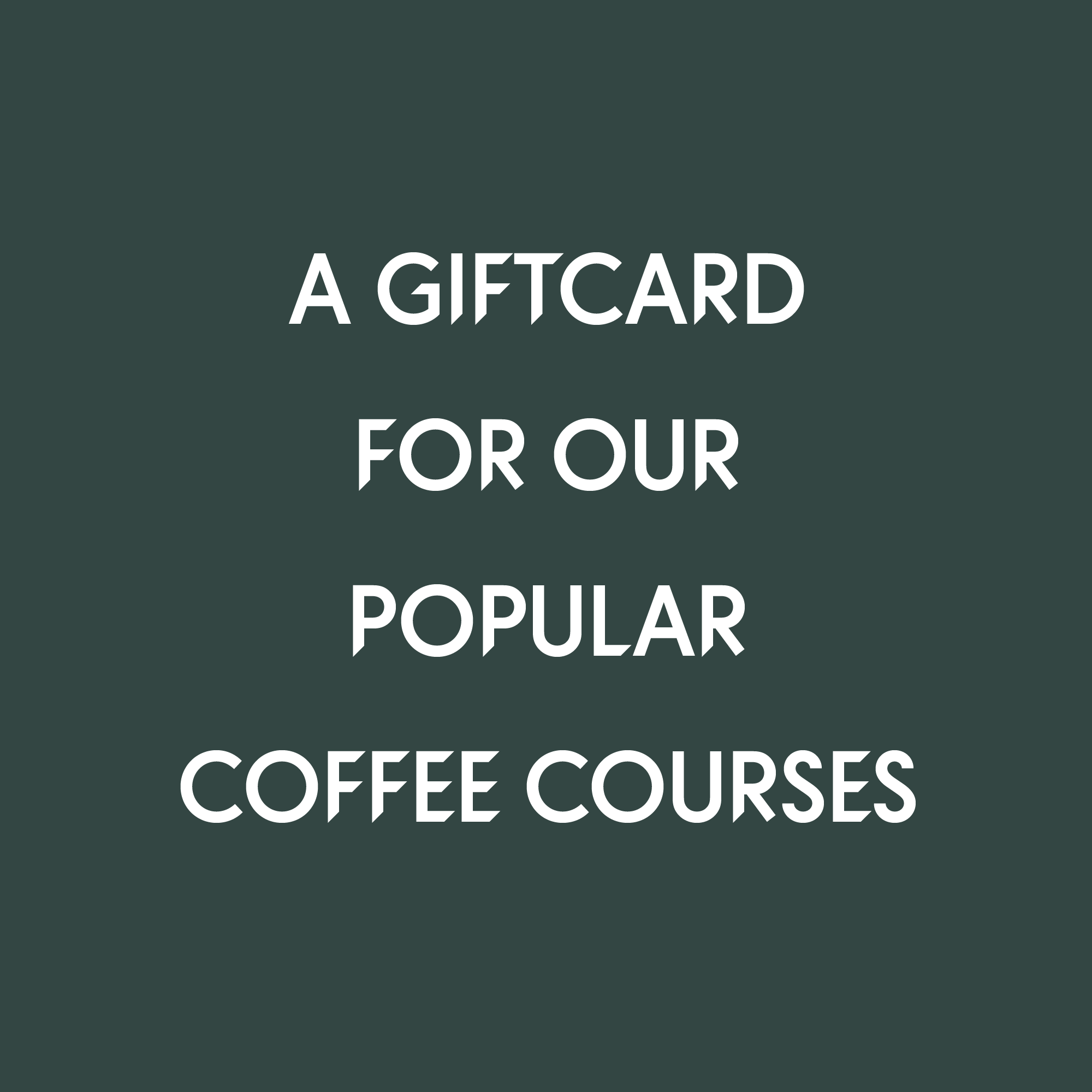 Choose between Black Brew Course, Barista Course, and Cupping Course
